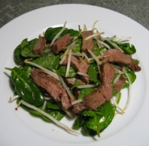 Thai-style Beef with Spinach