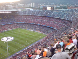 The enormous Camp Nou in Barcelona