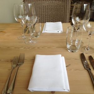 Place setting at The Dysart Arms